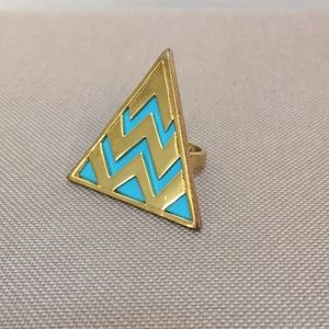 House of Harlow triangle ring